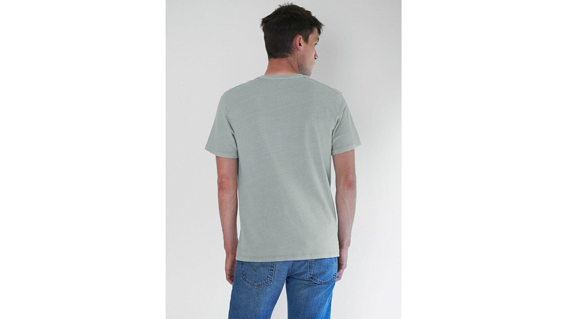 Wellthread Graphic Tee Plant Cotton Açık Gri Erkek Tişört