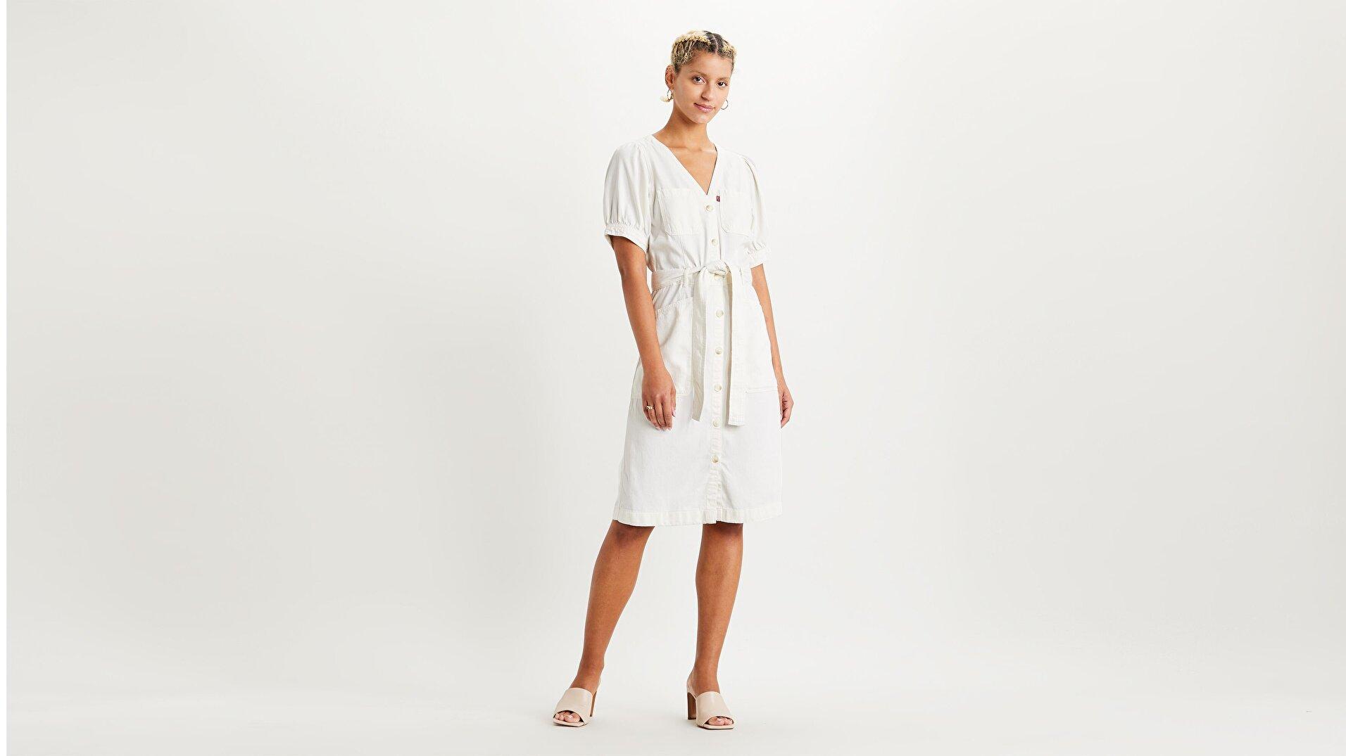 Bryn Dress Soft Beyaz Kadın Elbise
