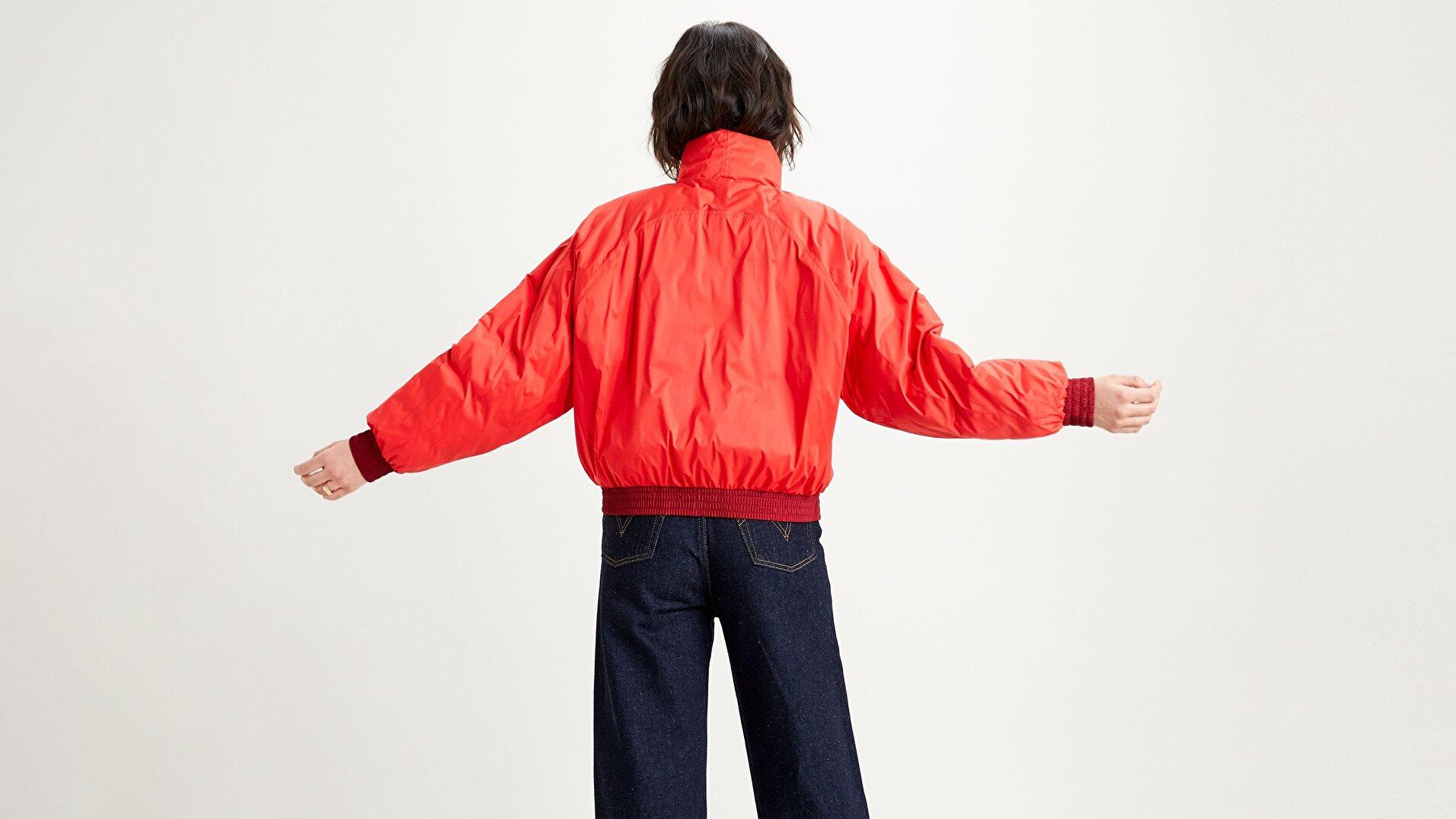 Lydia Reversible Puffer Poppy Kırmızı Kadın Puffer Ceket