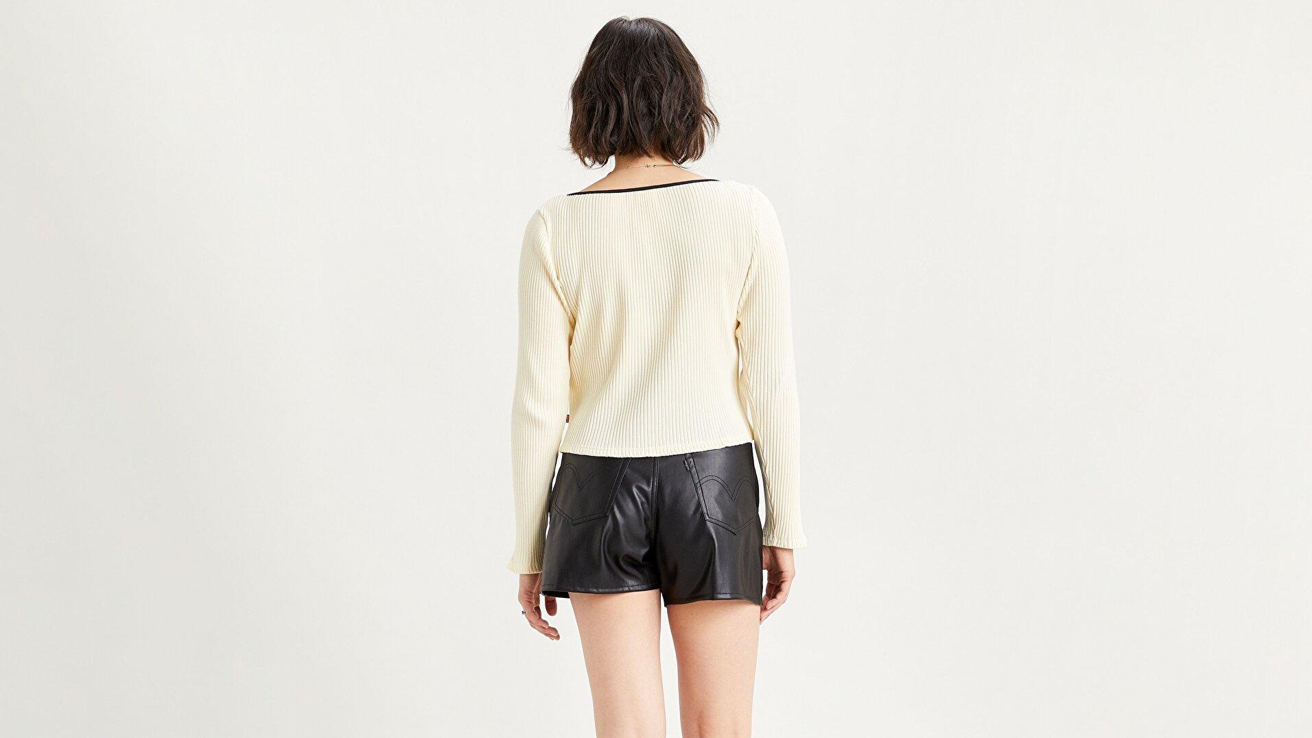 Brandy Ls Tee Tofu Beyaz Kadın Tişört
