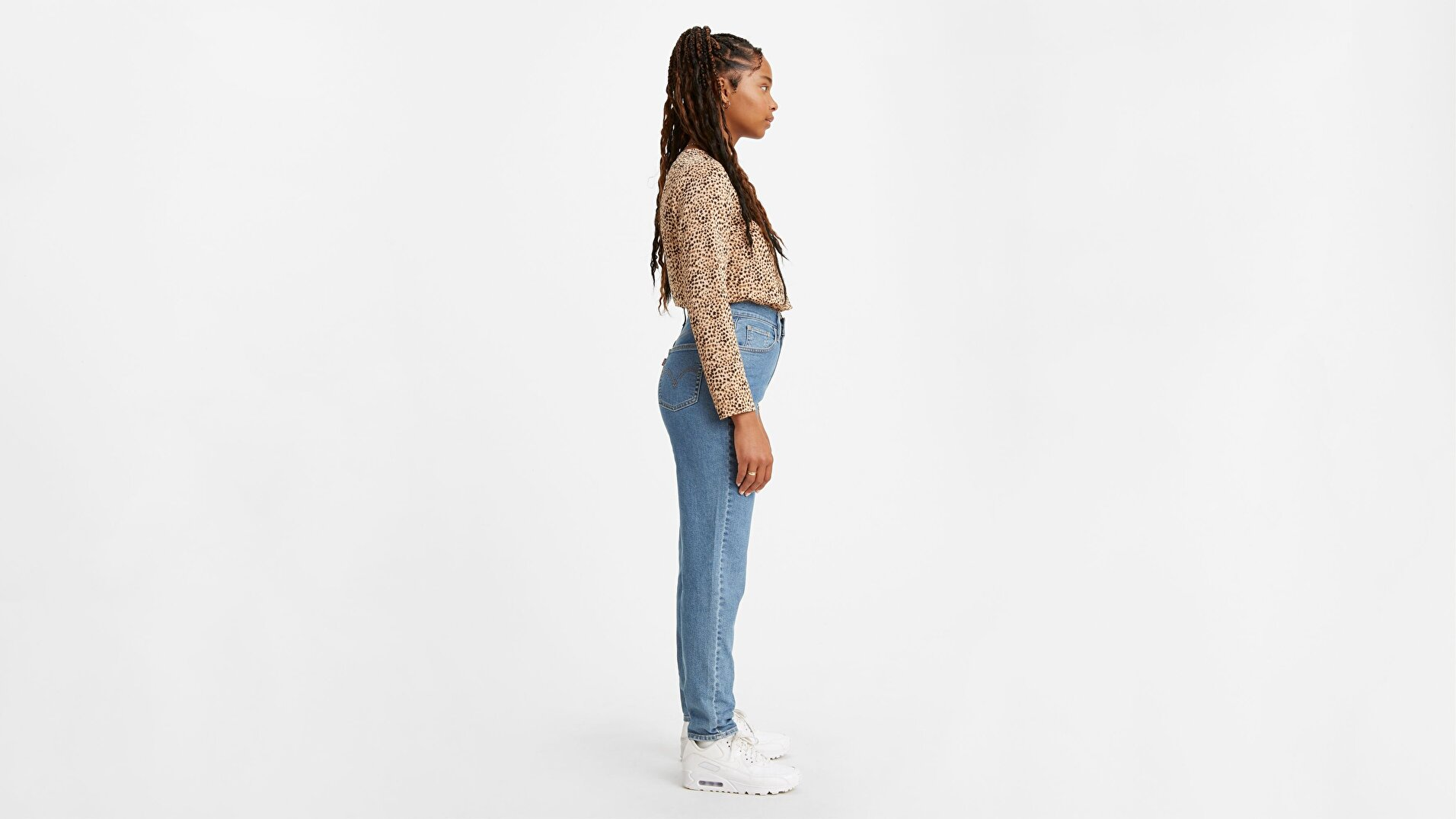 Yüksek Bel Tapered Fit Kadın Jean Pantolon-Fyi