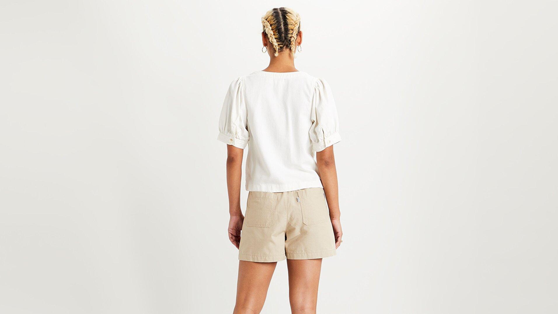 Bryn Shirt Soft Beyaz Kadın Gömlek