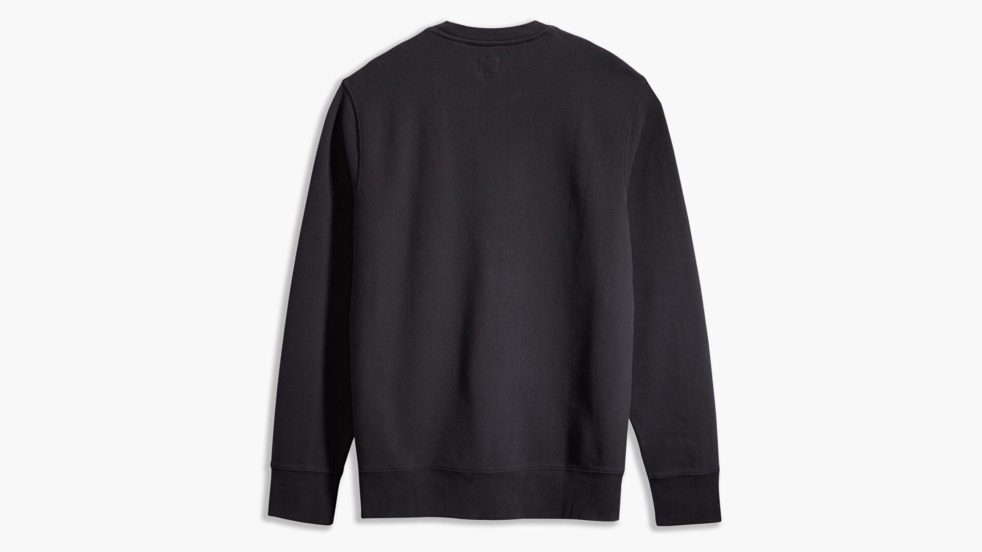 New Original Crew Siyah Erkek Sweatshirt