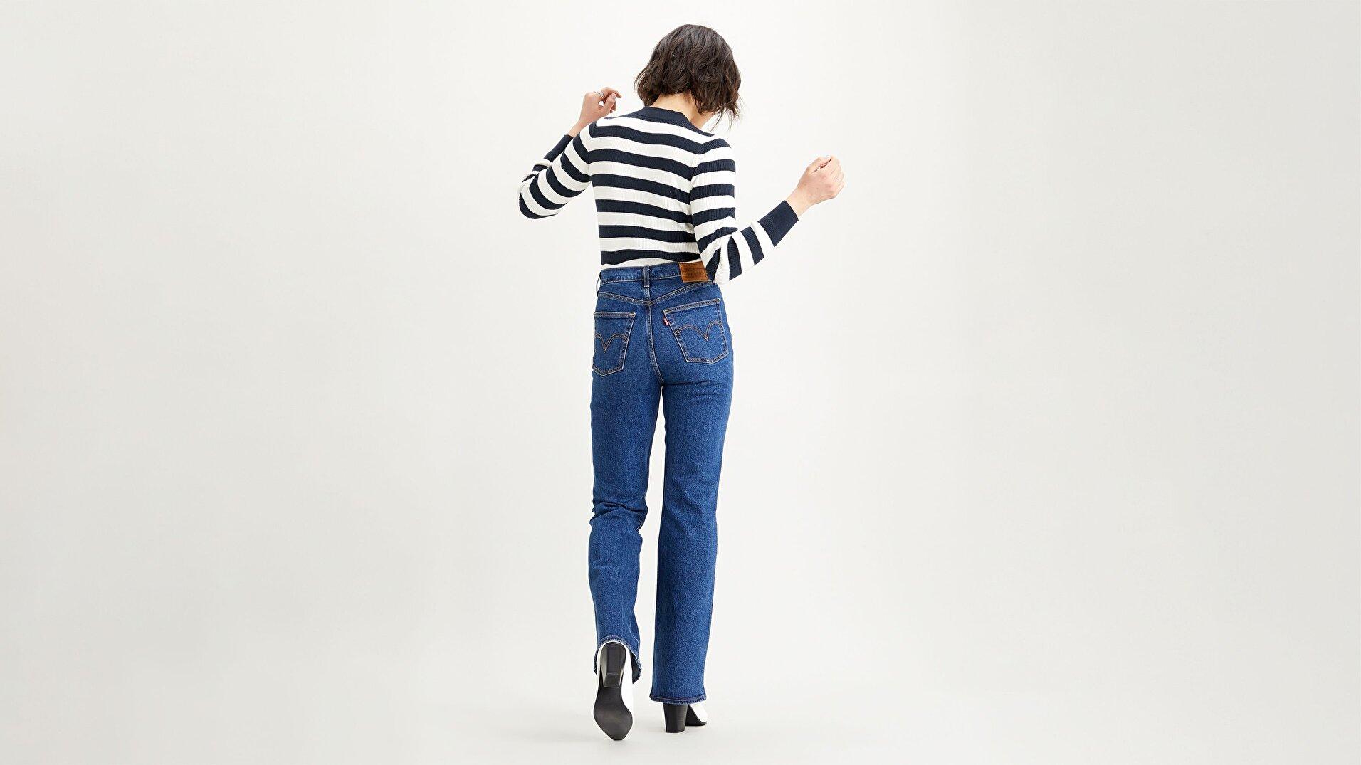 Ribcage Bootcut Kadın Jean Pantolon - Turn Up