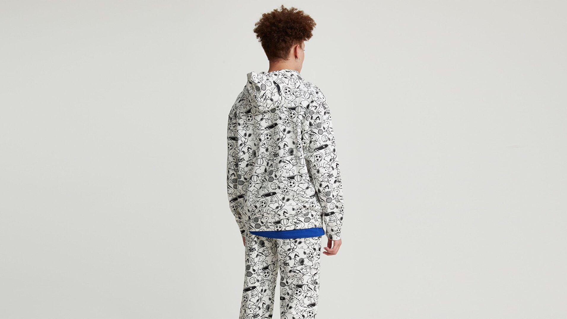 T3 Relaxd Graphic Hoodie Snoopy Aop Çok renkli Erkek Kapüşonlu Sweatshirt