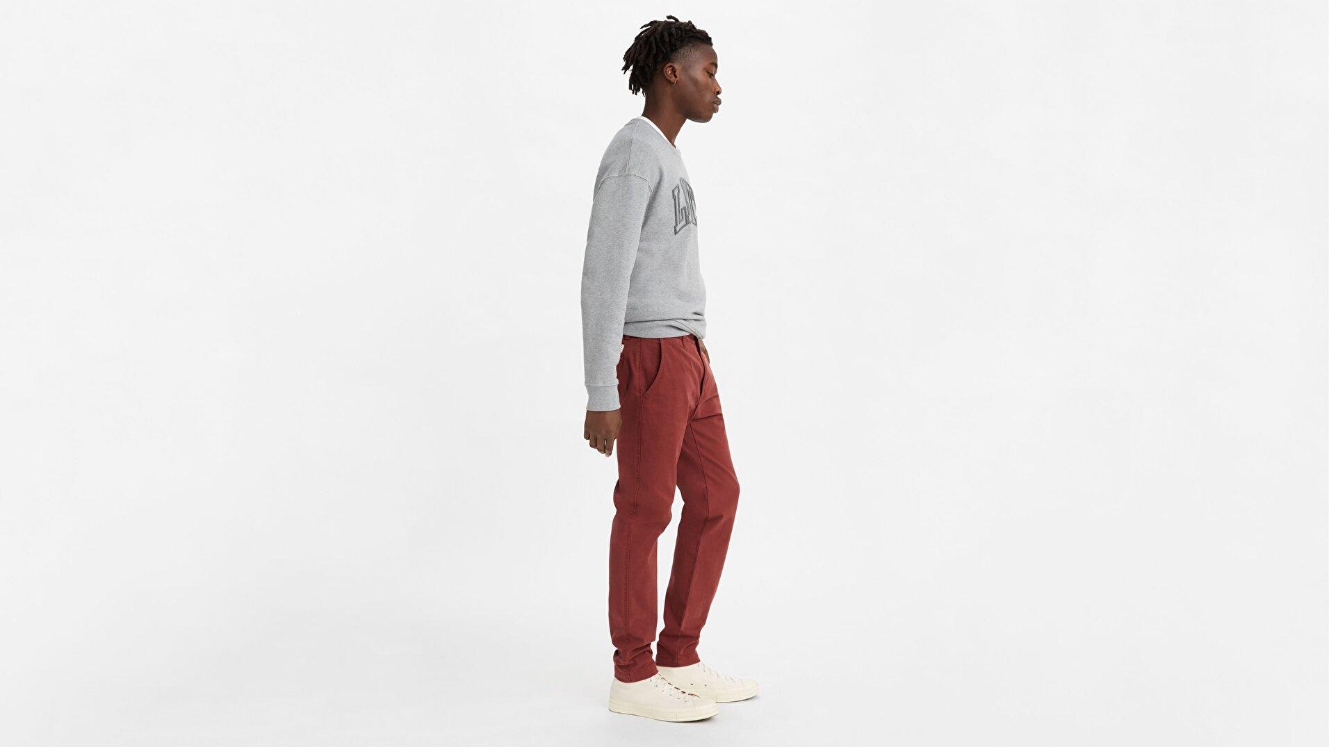 XX Chino Slim Fit Erkek Pantolon-Madder Brown Str Twill Gd