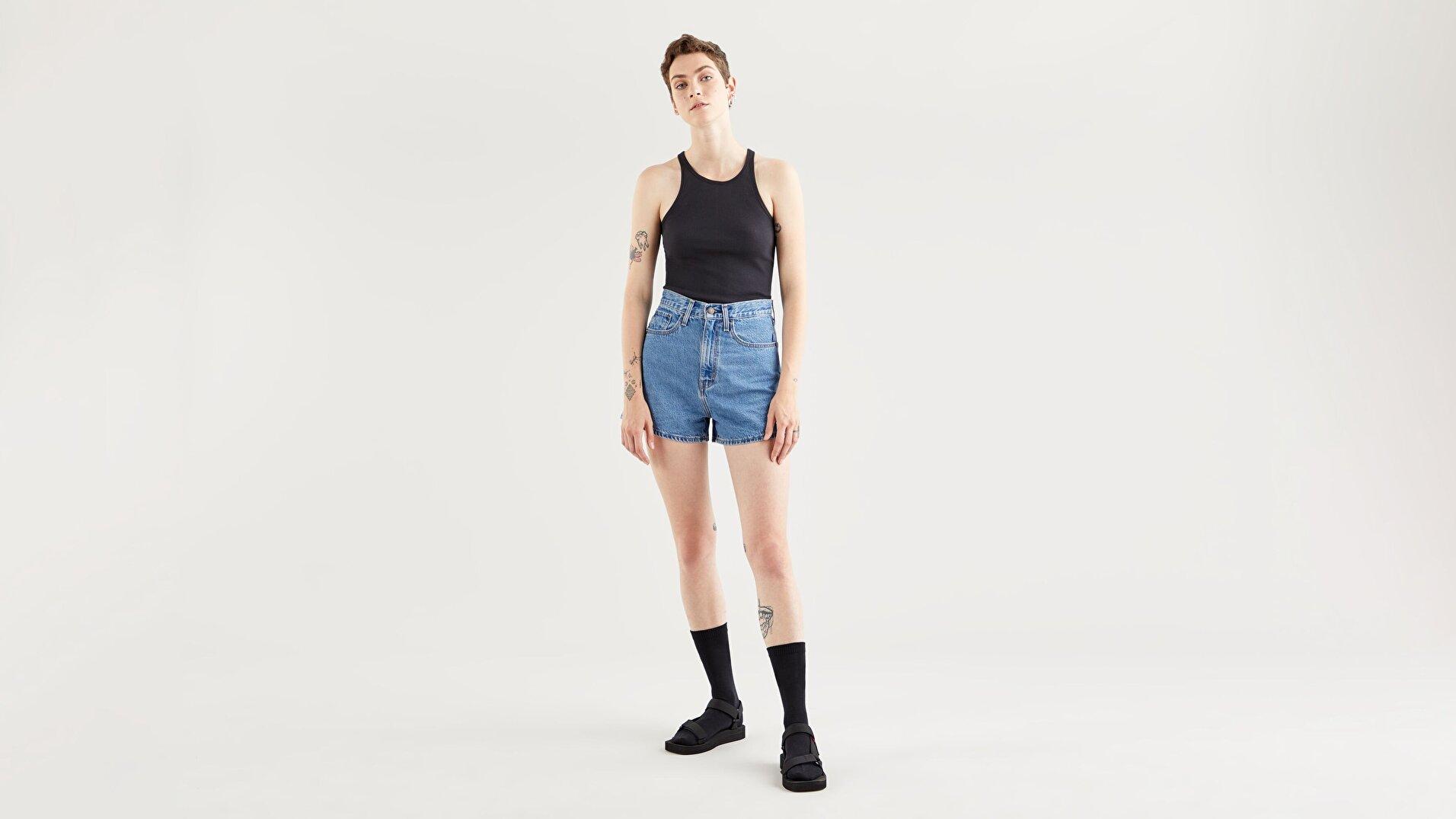 High Neck Tank Caviar Siyah  Kadın Tişört