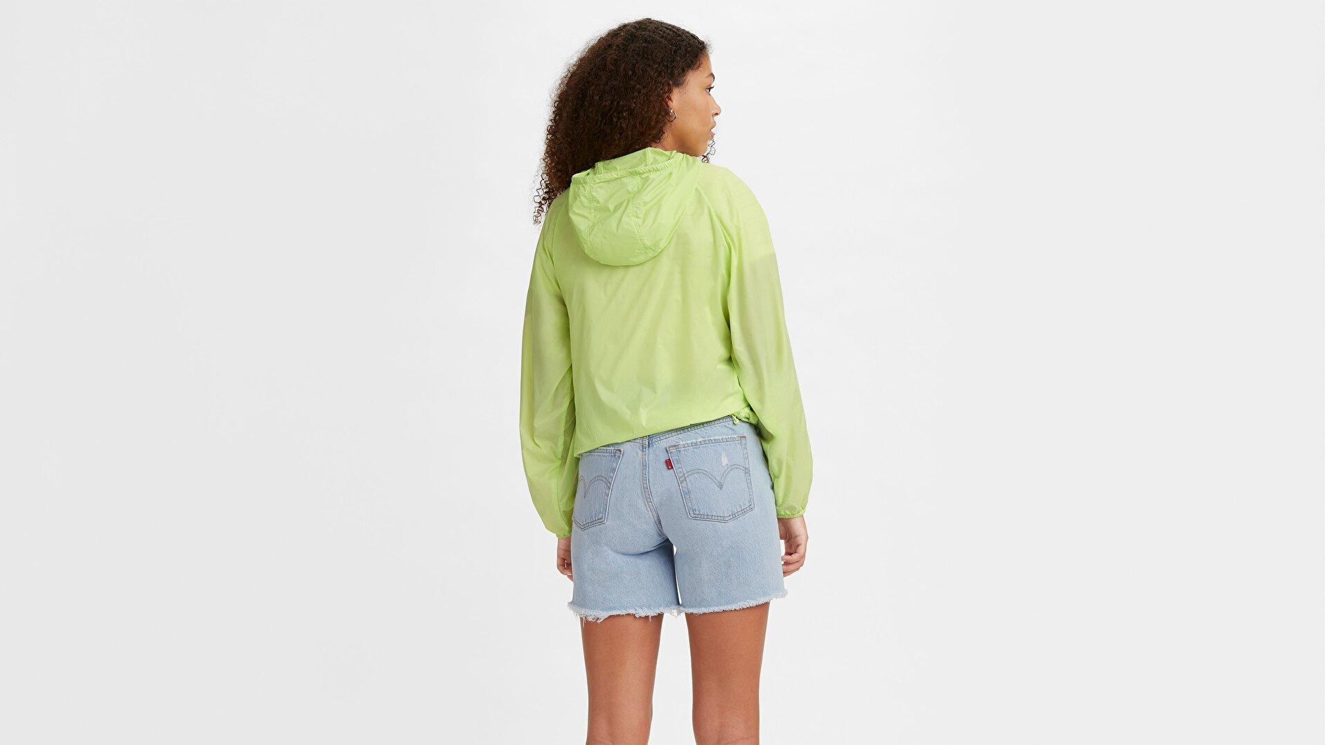 Lina Packable Windbrkr Shadow Lime Yeşil  Kadın Mont