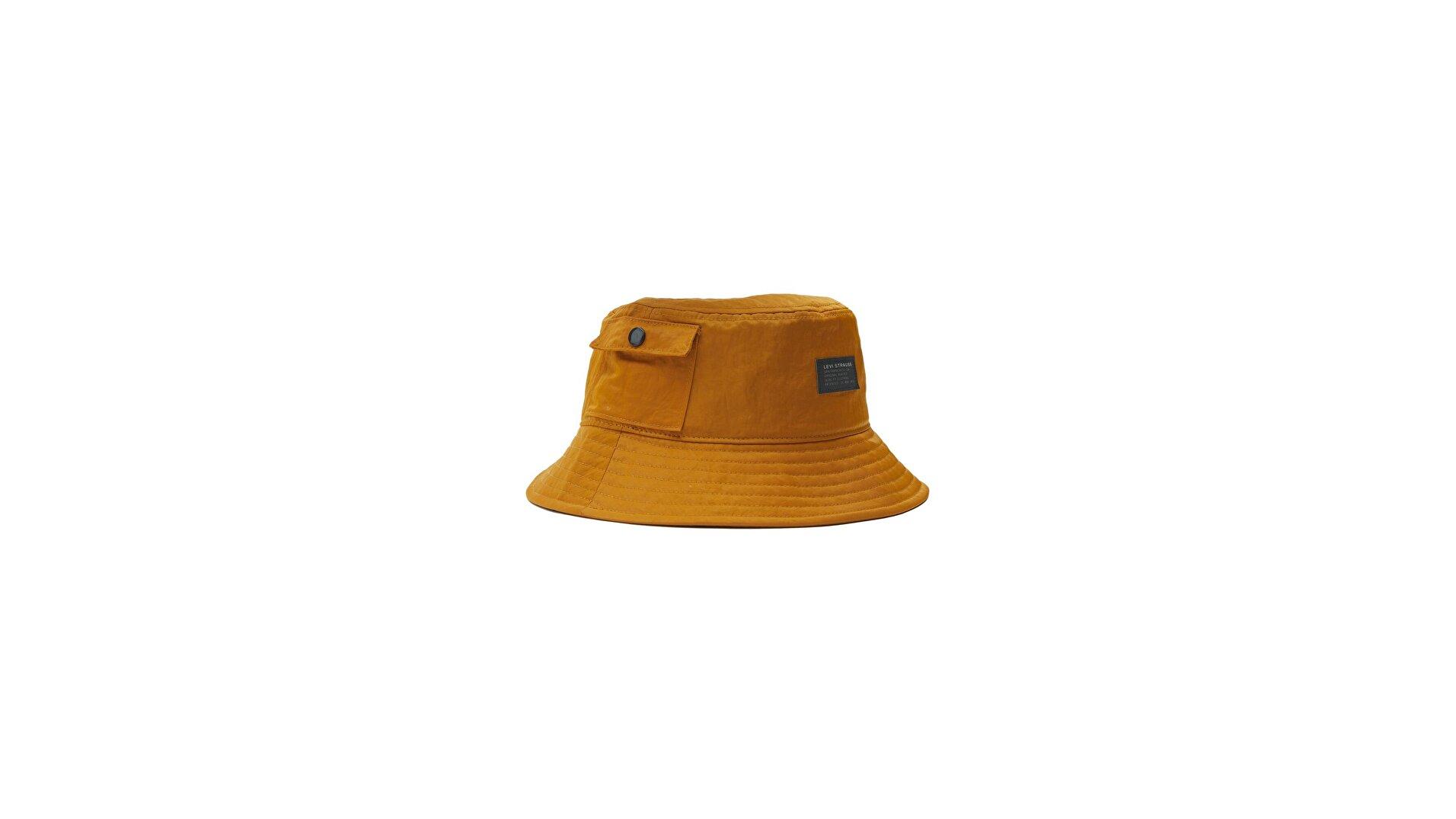 Levi's® Erkek Pocketed Bucket Şapka - No Horse Pull Logo Patch