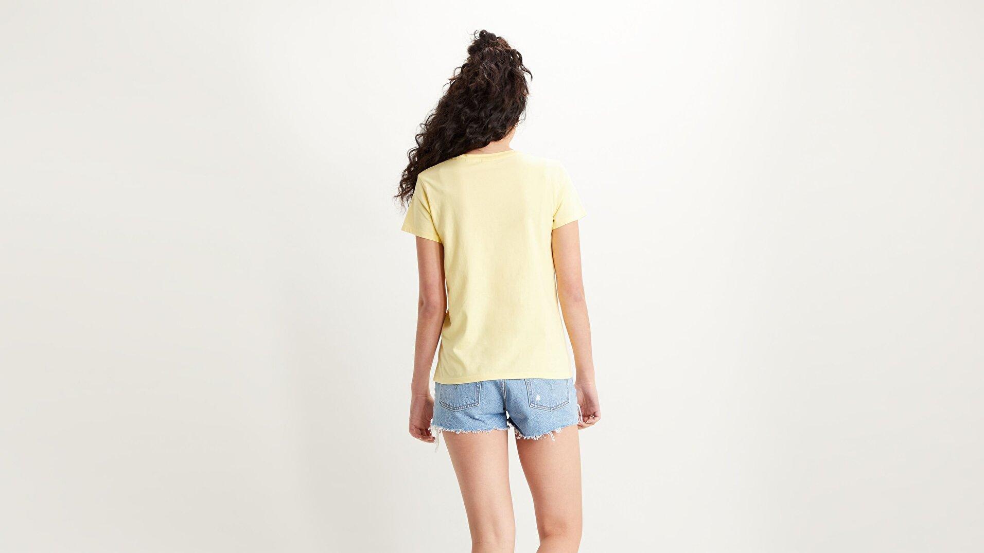 Perfect Tee Lemon Meringue Sarı Kadın Tişört