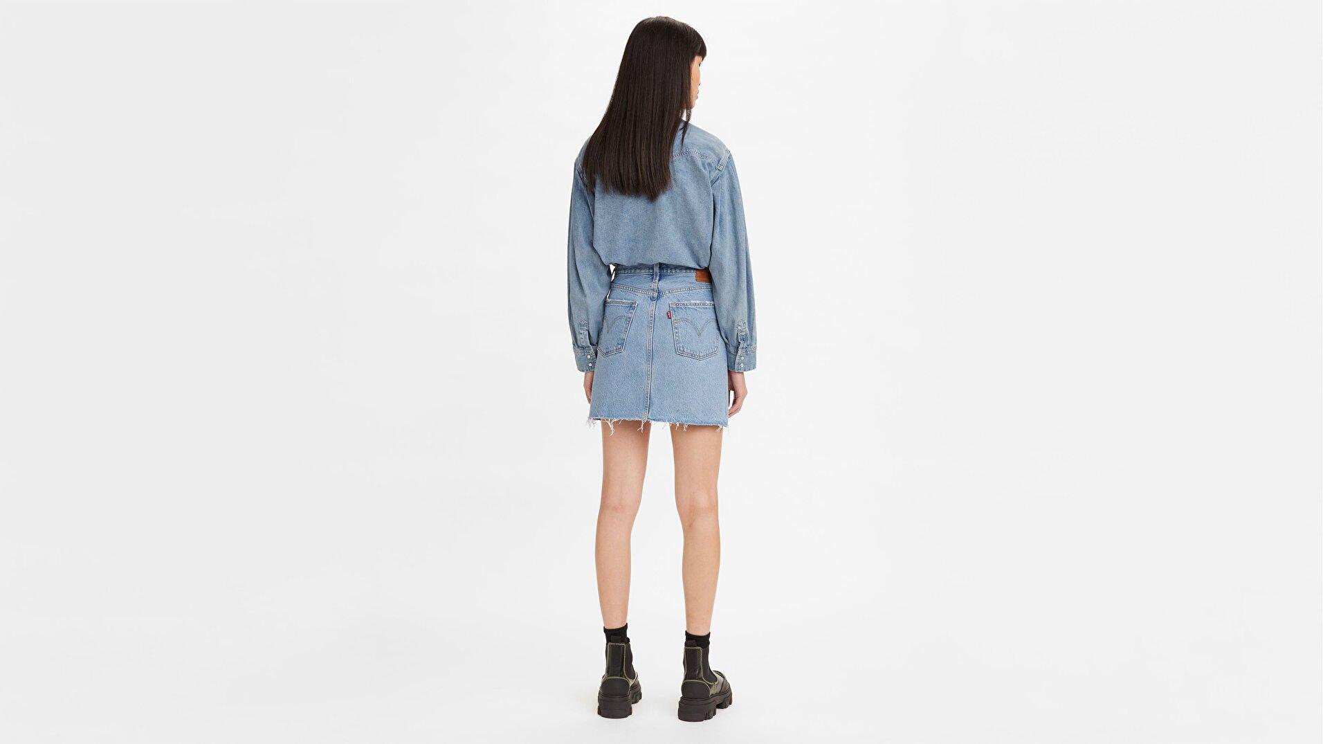 Deconstructed Kadın Jean Etek-Luxor Heat Skirt
