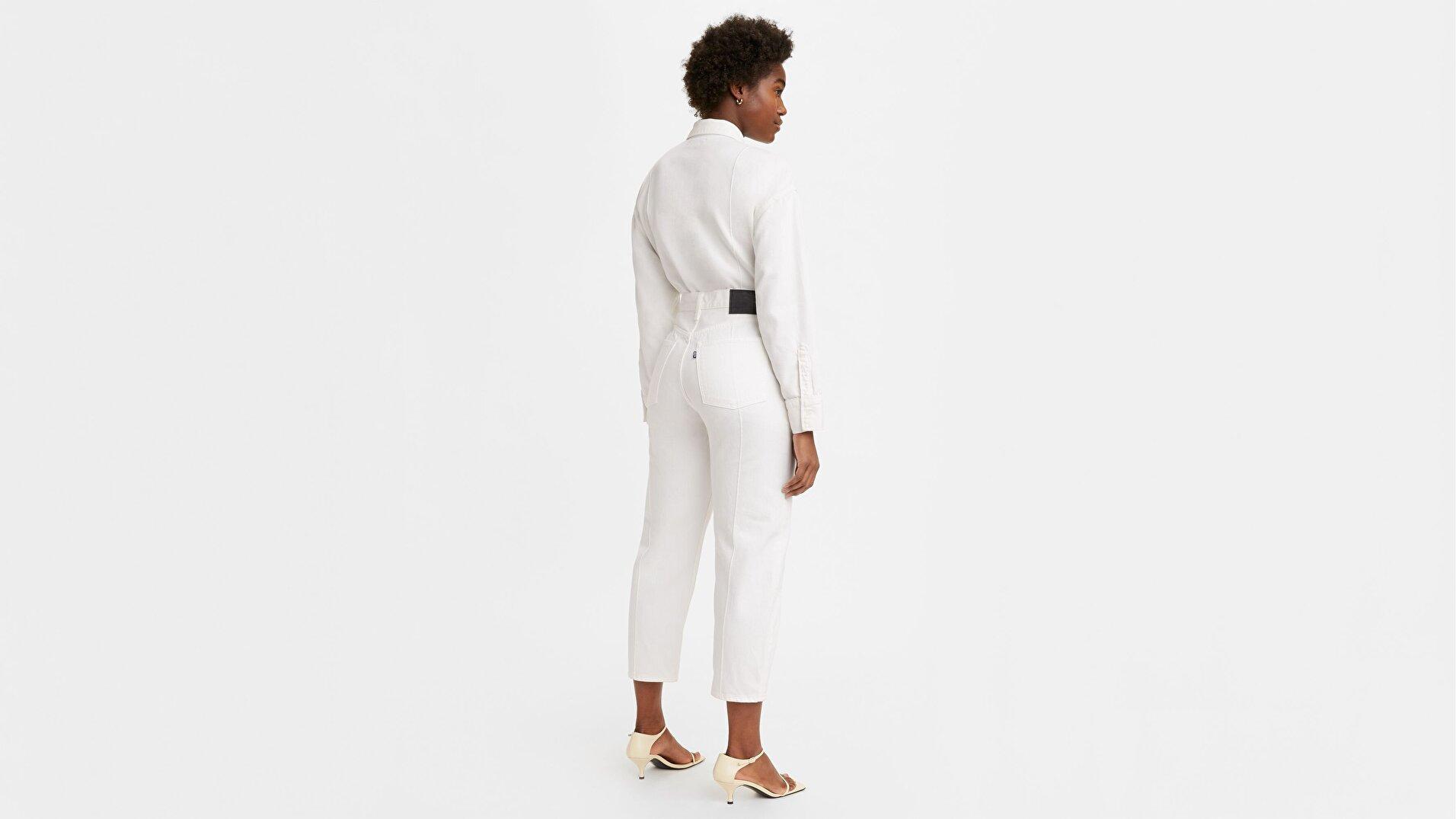 Made & Crafted® Barrel Crop Kadın Jean Pantolon -Lmc White Sails Moj