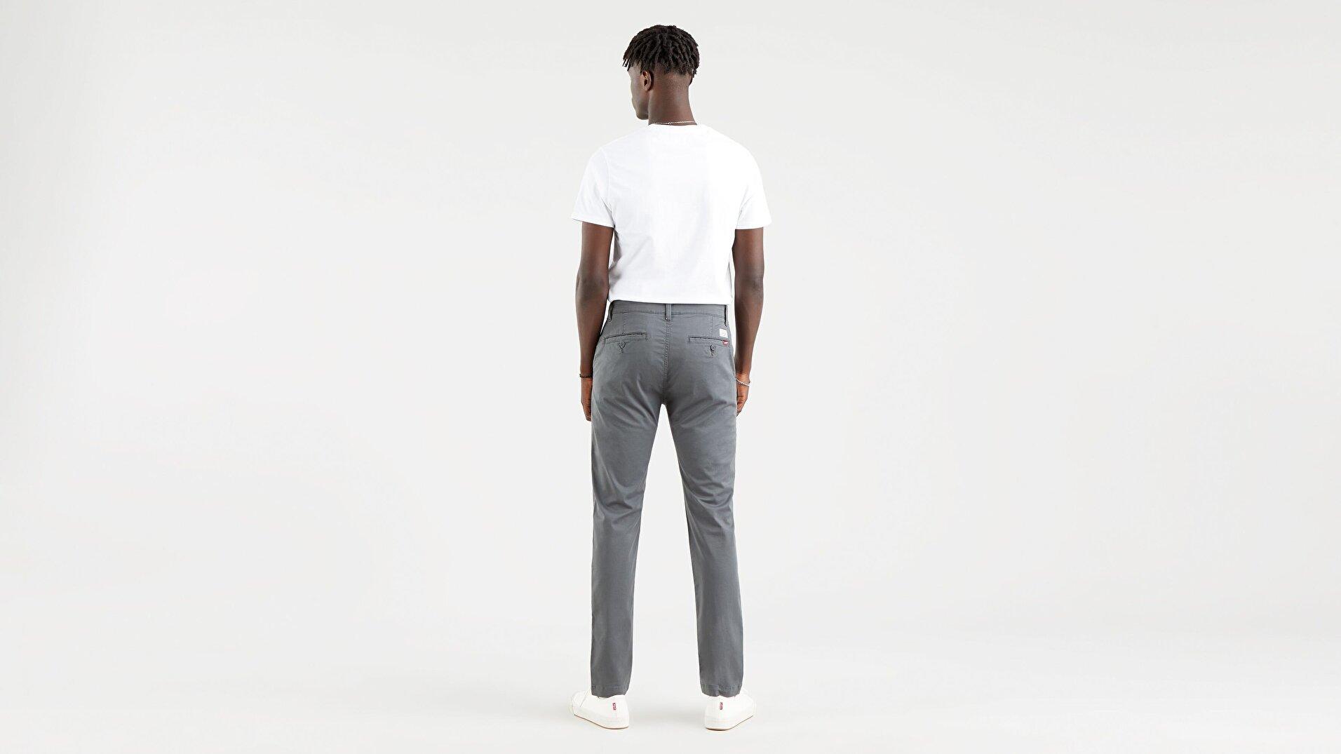 XX Chino Slim Fit Erkek Pantolon-Gray Ore Ltwt Tencel