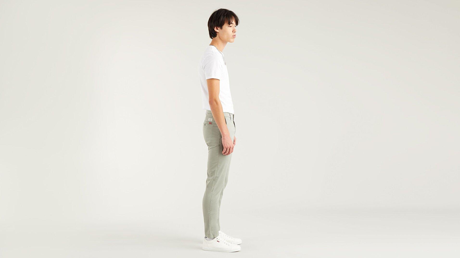 XX Chino Slim Fit Erkek Pantolon-Shadow Ltwt Tencel