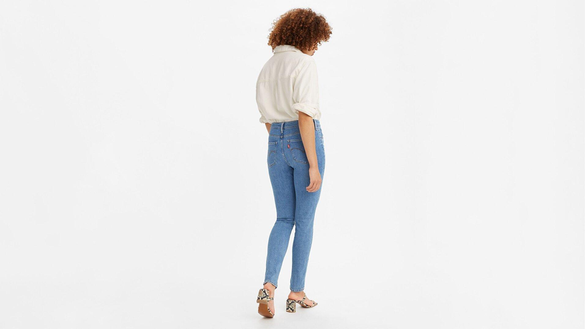 721 High-Waisted Skinny Kadın Jean Pantolon - Medium Wash