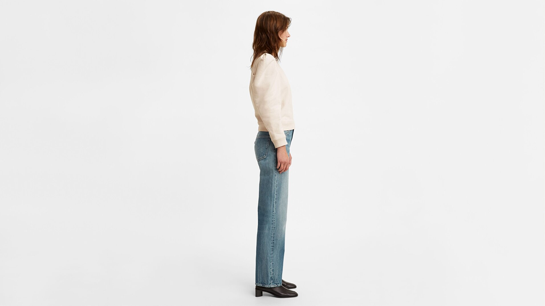 Levi's® Made & Crafted® The Column Jean Med Indigo - Worn In