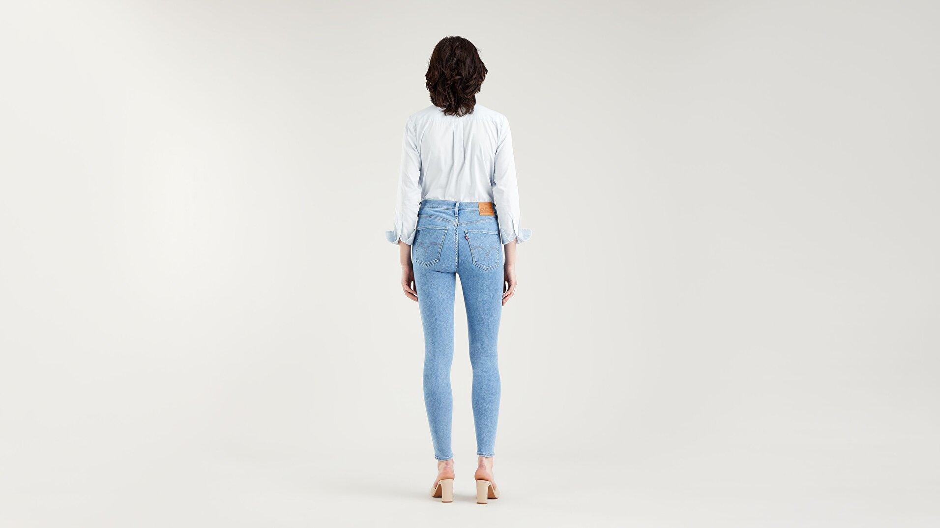 Mile High Super Skinny Kadın Jean Pantolon - Naples Stone - Medium Indigo