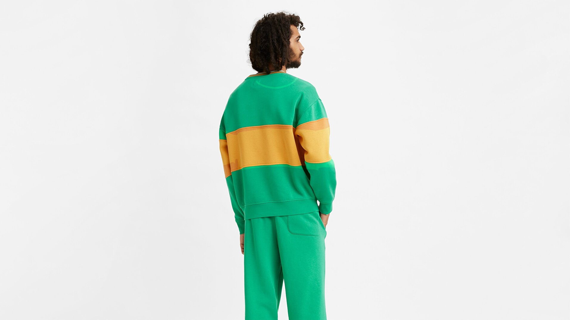 Renkli Block Tipped Crew Sweatshirt