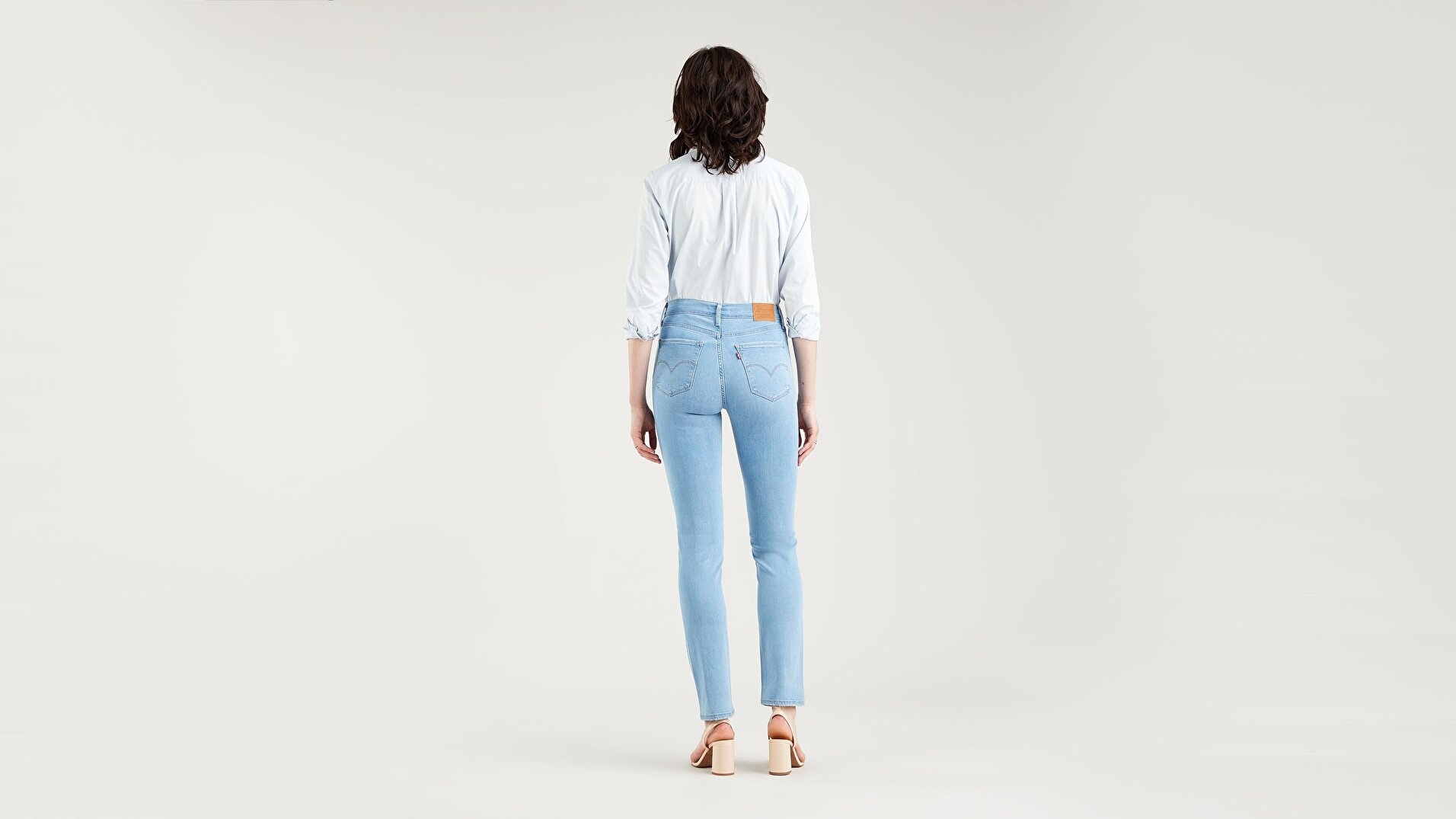 724™ High Rise Straight Kadın Jean Pantolon - Rio Aura - Blue