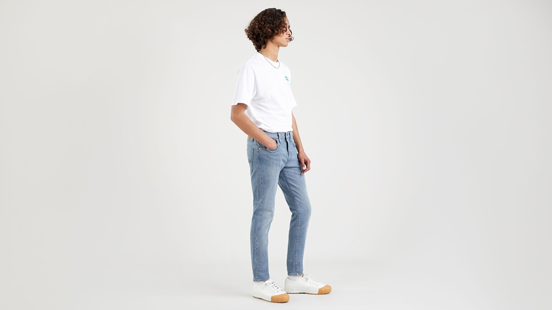 Skinny Taper Erkek Jean Pantolon - Sea Fog -  Medium Indigo