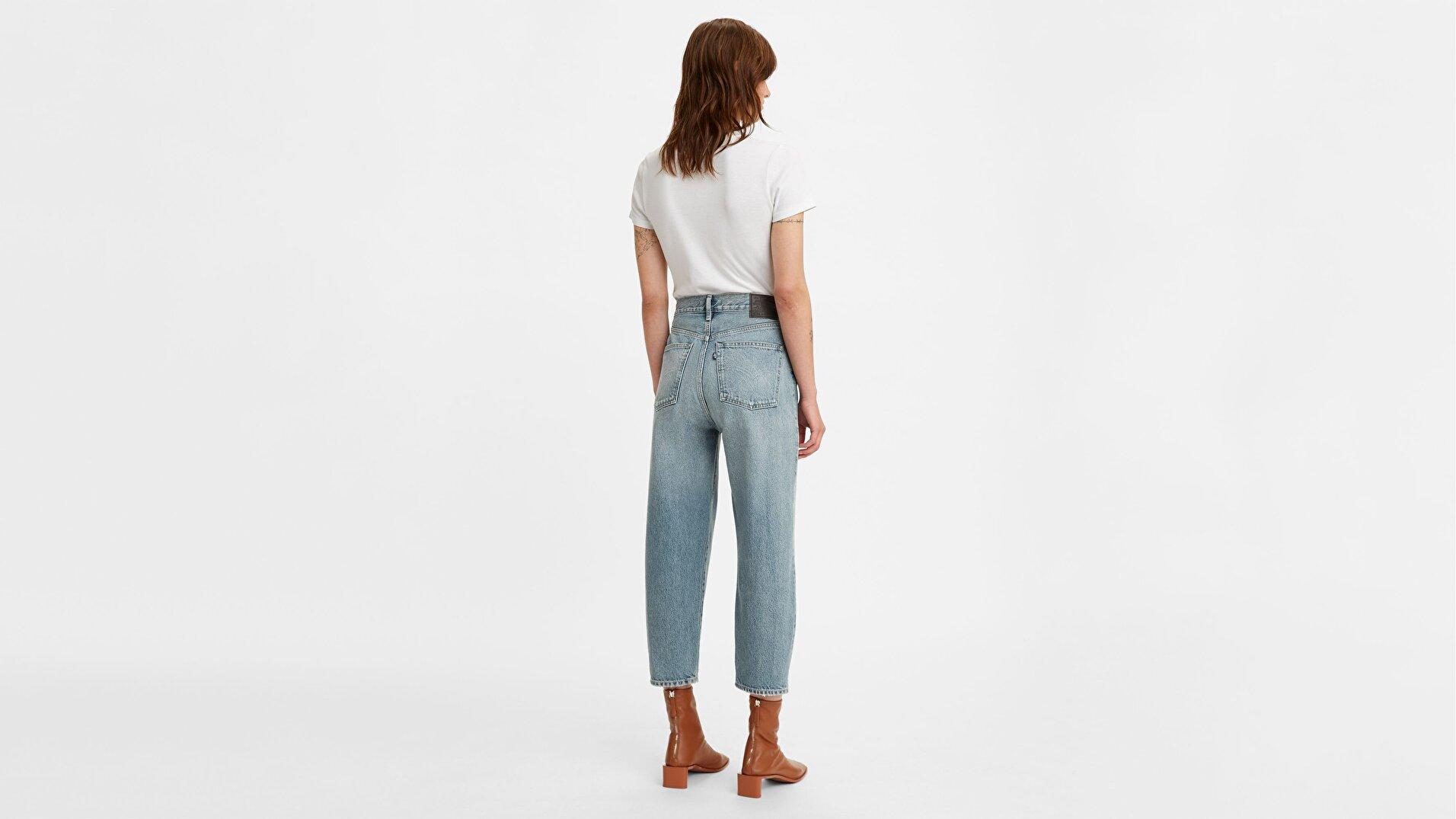Levi's® Made & Crafted® Barrel Kadın Jean Pantolon - Haven Blue - Blue