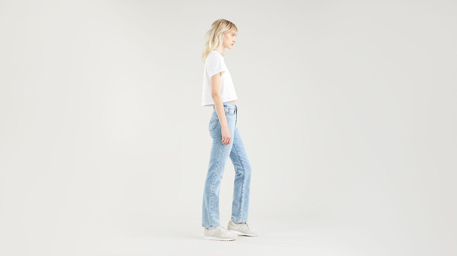 724™ High Rise Straight Kadın Jean Pantolon - Spill The Tea - Light Indigo