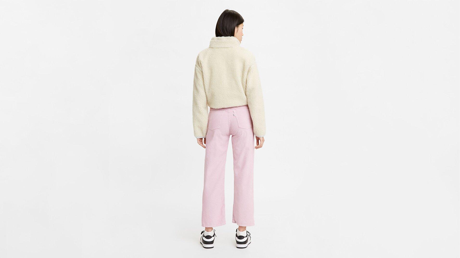 Ribcage Straight Ankle Kadın Jean Pantolon - Pebble Keepsake Lilac
