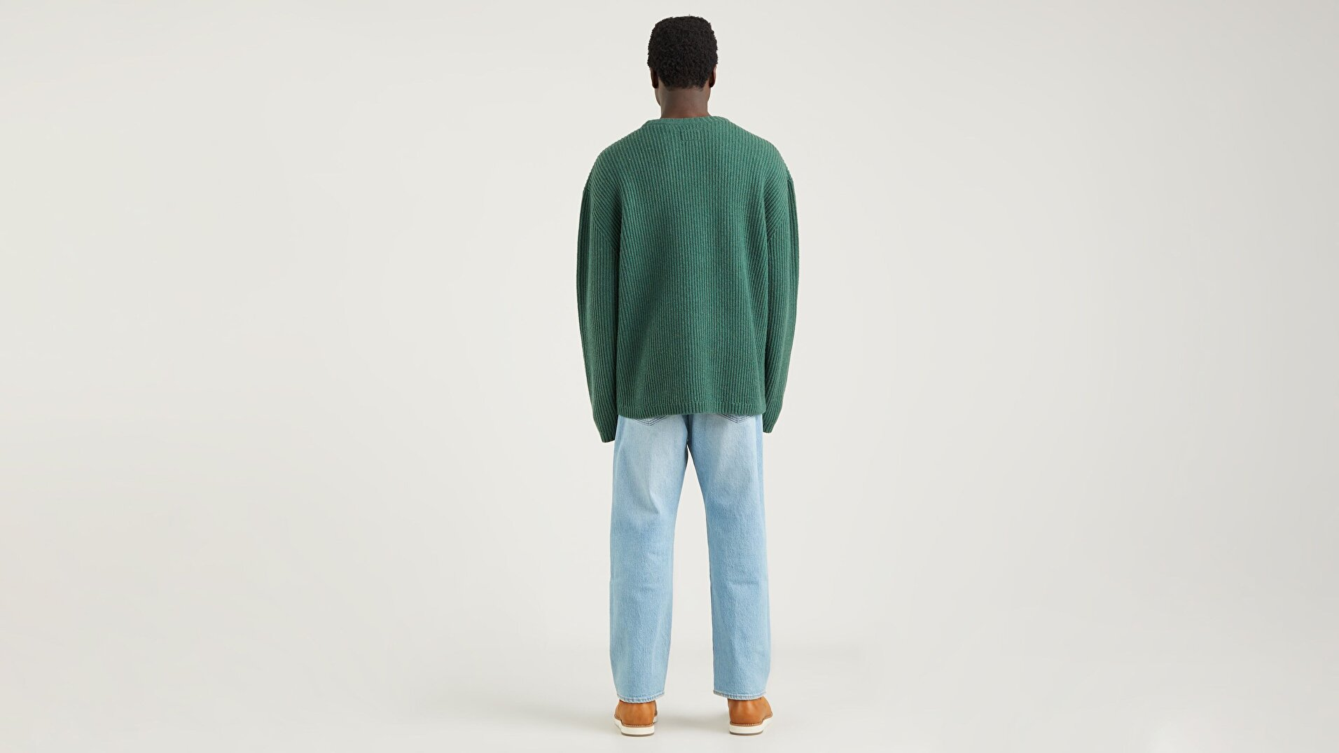 Battery Crewneck Yeşil Sweater