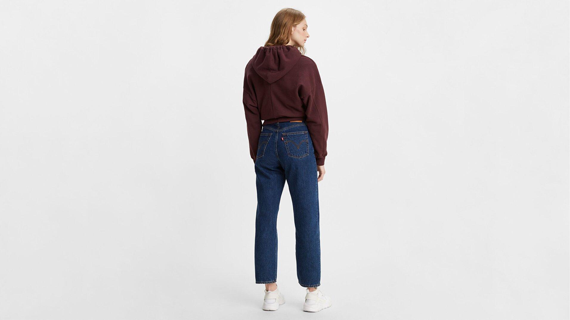 Ribcage Straight Ankle Kadın Jean Pantolon-Noe Dark Mineral