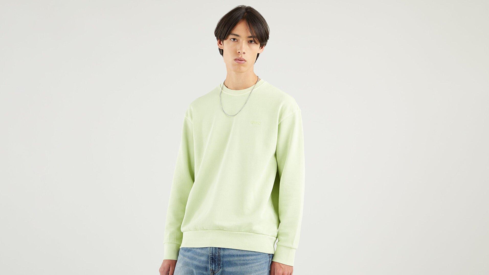 Relaxed Mv Crew Shadow Lime Garment Yeşil  Erkek Sweatshirt