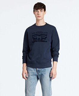 Levi's® Graphic Crew B 2H SSNL Tonal Dress Blue Erkek Gri Sweatshirt