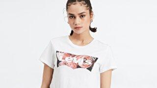 The Perfect Tee Hsmk Photo Beyaz Kadın Tişört