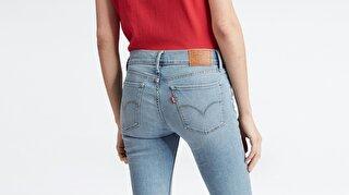 Levi's® Innovation Super Skinny Globe Trotter Kadın Jean Pantolon Mavi
