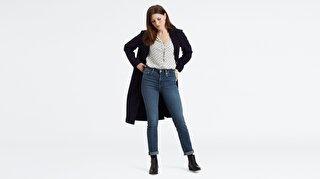 Levi's® 724 High Rise Straight Paris Fade Kadın Jean Pantolon Mavi