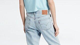 Levi's® 501 Crop Montgomery Baked Kadın Jean Pantolon Açık Mavi