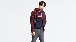 Levi's® Modern HM Hoodie Contrast Hood Nightwat Erkek Kapüşonlu Mavi Sweatshirt
