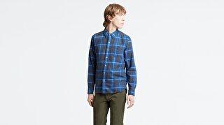 Levi's® Sunset 1 Pocket Shirt Cummings Dress BL Erkek Kareli Mavi Gömlek