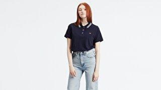 Levi's® Essential Polo Kadın Lacivert Tişört