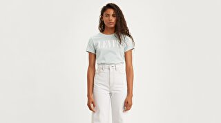 The Perfect Tee 90'S Serif Mavi Kadın Tişört