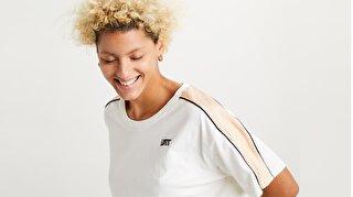Ginger Nyln Piece Tee Ginger Nylon Beyaz Kadın Tişört