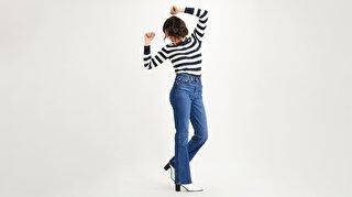 Ribcage Bootcut Kadın Jean Pantolon-Turn Up