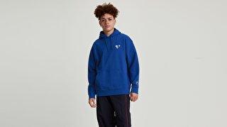 T3 Relaxd Graphic Hoodie Snoopy Soccer Mavi Erkek Kapüşonlu Sweatshirt